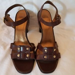 "Circa Joan & David ""Jonquille"" block heel sandals"
